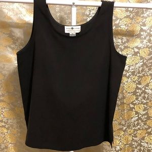 Real Clothes Saks Fifth Avenue Silk Black Tank